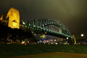 Sydney Harbour Bridge on the Queens Birthday Weekend