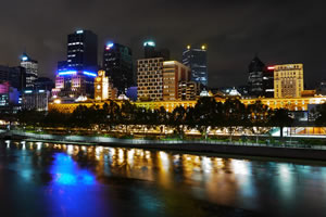 Melbourne's Yarra River on the Queens Birthday Long Weekend